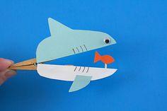 Como hacer un tiburón con broches