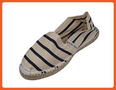 Alpargatus - Espadrille Crude Stripes Blue 39 M EU / 8-8.5 BM US Crude / Blue - Sandals for women (*Amazon Partner-Link)