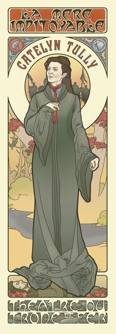 I'm not a big fan of the Alphonse Mucha style, but these depictions by Elin Jonsson are pretty and graceful.