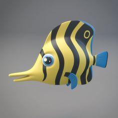 Cartoon Fish by Genius World on @omairsart #FISH #UNDERWATER #SEA #RIVER #WATER #TOONS #SWIM