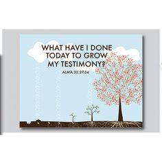 Alma 32 - Faith is like a seed art print
