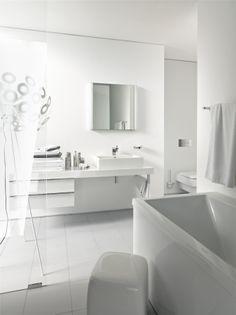 Duravit White Bathroom, Duravit, Bathroom Designs, Bathroom Remodeling,  Minimalist Interior, Powder