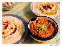 Muhammara - pasta de ardei copti cu nuci Pesto, Yams, Tahini, Lasagna, Hummus, Grains, Rice, Ethnic Recipes, Zen