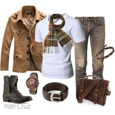 Men's Winter Fashion by keri-cruz on Polyvore featuring Bullboxer, Swatch, Doublju, MasterCraft Union, Orciani and Catherine Zadeh