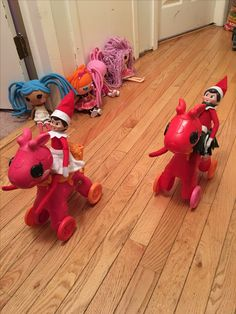 Day 14 2016 - Candy and Cookie were racing with the Lalaloopsys last night