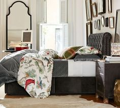 Add luxury to your bed with Pottery Barn's vast selection of duvet covers and shams. Home Bedroom, Bedroom Decor, Bedrooms, Master Bedroom, Bedroom Retreat, Bedroom Ideas, Organic Duvet Covers, Bedroom Layouts, Luxury Bedding