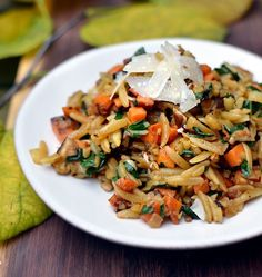 Orzo with caramelized fall vegetables // the kitchen