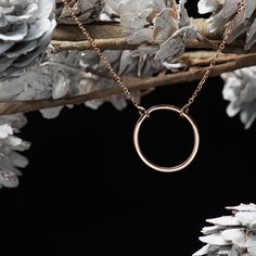 This dainty circle necklace is at the top of our holiday wish list! Yours too? #ShaneCo #HolidayHint