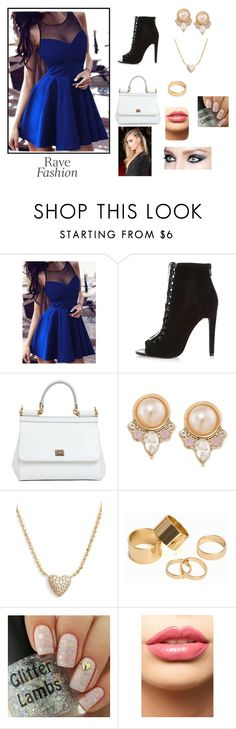 """""""Rave Fashion"""" by honeyitsqueenbc on Polyvore featuring River Island, Dolce&Gabbana, Carolee, Nadri, Pieces, LASplash, women's clothing, women, female and woman"""