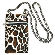 Mini Bag estampado jirafa Animal Prints, Mini Bag, Madrid, Purses, Wallet, Chain, Bags, Fashion, Handmade Handbags