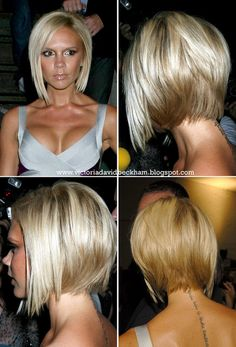 Lemon and Lace: victoria beckham's hair. One day I'll go back to this hair style!! Love it!