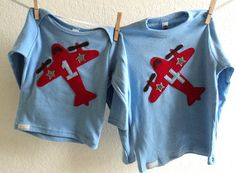 Airplane Birthday Shirt BOYS Personalized 1st by ThePeachyOwl