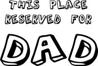 Dad printable coloring craft placemat, LeeHansen.com