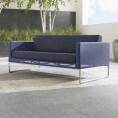 Shop Dune Sofa with Sunbrella ® Cushions.   Sofa includes seat and back cushions with Sunbrella acrylic covers, weather-resistant rain or shine.  The Dune Sofa with Sunbrella ® Cushions is a Crate and Barrel exclusive. Check out .