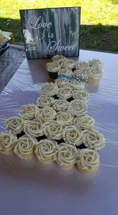 Bridal shower/ wedding dress cupcake cake