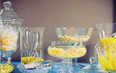 Yellow and blue for a candy bar looks great and tastes even better!