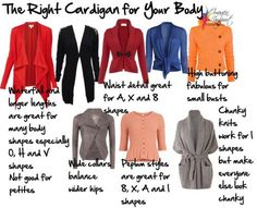 how to dress for your body type | How to Wear Cardigans for Your Body Shape - Paperblog