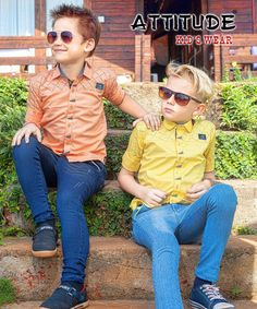 Colorful lives for Boys! Why not? With #AttitudeKidsWear  #Kids #Garments #Boys #Clothing #Style #India #MakeInIndia #Designer #Trendy #Smart #2017 #Casual #ComfortWear #EyeCandy Boy Meets World, Boys Shirts, Kids Wear, Kids Boys, Boy Outfits, Attitude, Eye Candy, Casual, Toddlers