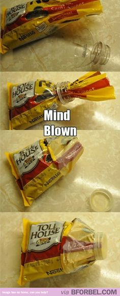 Life Hack For Storing Opened Packets Of Food…