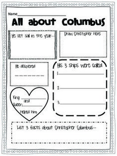 Happy-Christopher-Columbus-Day-Craftivity-and-activities-780106 Teaching Resources - TeachersPayTeachers.com