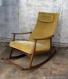 Marktplaats.nl > Zeldzaam Vintage Retro schommelstoel, Rare Rocking chair! - Huis en Inrichting - Fauteuils