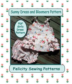 Sunny Dress and Bloomer PDF Sewing Pattern. Baby & Toddler PDF Pattern. Children's Sewing Pattern.
