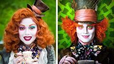 Create your own Alice in Wonderland The Mad Hatter Costume for Halloween Mad Hatter Girl, Mad Hatter Makeup, Mad Hatter Tea, Mad Hatters, Women's Mad Hatter Costume, Mad Hatter Cosplay, Alice In Wonderland Makeup, Wonderland Costumes, Maquillaje Halloween