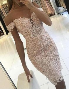 Homecoming Dresses 2018 Buttons Lace Off-the-Shoulder Sexy Short Tight Homecoming Dress Homecoming Dresses_Special Occasion Dresses_High Quality Wedding Dresses, Prom Dresses, Evening Dresses, Bridesmaid Dresses, Homecoming Dress - Short Lace Bridesmaid Dresses, Prom Dresses, Wedding Dresses, Graduation Dresses, Summer Dresses, Quinceanera Dresses, Long Dresses, Wedding Bridesmaids, Cocktail Vestidos