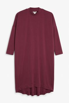 An over-the-knee length t-shirt dress with a rounded ribbed neck. Made from a super-soft modal mix. The model is 171 cm and is wearing a size small. Monki, Shirt Dress, T Shirt, Women Wear, How To Wear, Clothes, Dresses, Image, Fashion