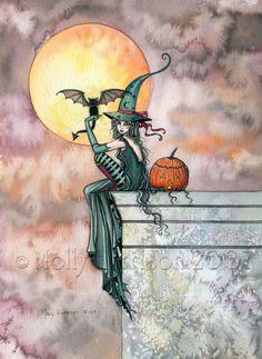 Molly Harrison Fantasy Witch Art, Vampire Art, and Halloween Art Prints
