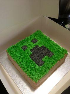 Minecraft cake :) gluten, dairy & yeast free www.downtherabbithole-bell.blogspot.com.au