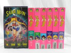 LOT of 10  Sailor Moon VHS Tapes ~ Box Set Doom Tree Anime Series  EUC