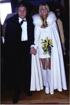 Actress Brigitte Bardot and German millionaire Gunter Sachs were married Bardot's fourth and current husband is Bernard d'Ormale; Celebrity Wedding Photos, Celebrity Wedding Dresses, Celebrity Couples, Celebrity Weddings, Brigitte Bardot, Bridget Bardot, Hollywood Wedding, Vintage Hollywood, Star Wedding