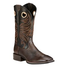 Ariat Men's Sport Rider Wide Square-Toe Western Cowboy Boot -- Amazing shoe product just a click away : Men's boots Western Boots For Men, Western Cowboy, Rider Boots, Square Toe Boots, Comfortable Boots, Boot Shop, Boots For Sale, Cowboy Boots, Men's Shoes
