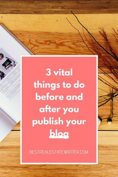 3 vital things to do before and after you publish your blog #realestate #blog #blogger #contentmarketing How To Start A Blog, How To Make Money, Real Estate Coaching, Real Estate Branding, Spelling And Grammar, Blog Online, Content Marketing Strategy, Blogging For Beginners, Business Tips