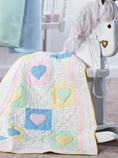 This is the cutest quilt!  I made it for my youngest granddaughter when she was born.