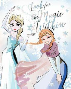 Frozen Magic Within Canvas Wall Art Multi-Colored Frozen Wallpaper, Disney Wallpaper, Frozen Movie, Disney Frozen, Cute Disney, Disney Art, Disney Pics, Anna Y Elsa, Frozen Fan Art