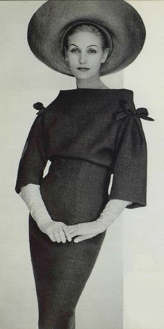 Being A Woman in 1959- Pierre Cardin and that beautiful face!