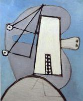Pablo Picasso. Head blue background [Figure], 1929