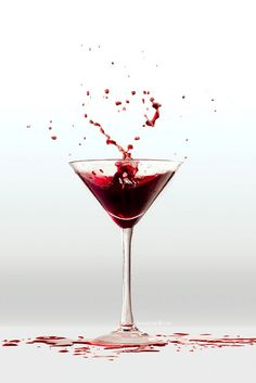 heartini; splash of heart in a martini glass. #lauramakespictures
