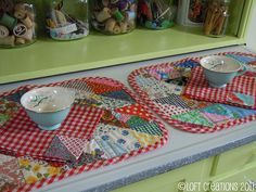 love these handmade placemats