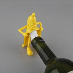 Cheap wine stopper, Buy Quality bar tools directly from China bottle plug Suppliers: Banana Wine Stopper Soda Beer Bottle cork wine cork bottles plug Bar Tool Wine Creative Novelty Gift