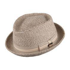 Scala Hats Diamond Crown Pork Pie Hat - Brown