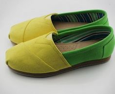 Toms latest Summer Candy Yellow and Green