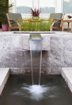 Love this contemporary fountain!