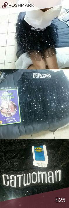 Selling this CATWOMAN sparkly tutu unworn &new accesories 2 on Poshmark! My username is: babygslilmama. #shopmycloset #poshmark #fashion #shopping #style #forsale #Batman #Dresses & Skirts