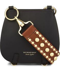 BURBERRY - Studded strap leather shoulder bag | Selfridges.com