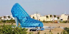 Pics: See a church built in Taiwan to resemble high-heel glass shoe