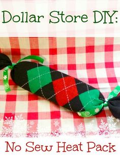 Easy DIY Home made gift with almost everything form the Dollar Store - Make your own Heat Pack! No sewing involved! #NoSew