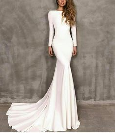Modest Wedding Dresses With Sleeves ★ See more: weddingdressesgui. Modest Wedding Dresses With Sleeves ★ See more: weddingdressesgui. Modest Wedding Dresses With Sleeves, Rustic Wedding Dresses, Long Wedding Dresses, Long Sleeve Wedding, Modest Dresses, Bridal Dresses, Ling Sleeve Wedding Dress, Wedding Ideas, Casual Wedding